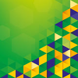 Abstract background Brazil Flag concept Royalty Free Stock Image