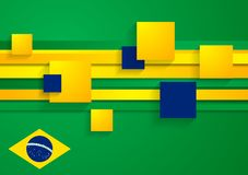 Abstract background in Brazilian colors Royalty Free Stock Photo