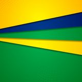 Abstract background in Brazilian colors Stock Photo