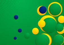 Abstract background in Brazilian colors Stock Image