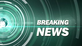 Abstract background breaking news Stock Photography