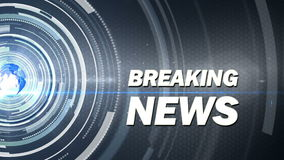 Abstract background breaking news Stock Image