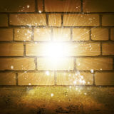 Abstract background is brick wall, concrete floor Stock Images