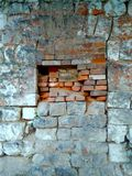 Brick wall in grunge style, abstract texture, background stock photo