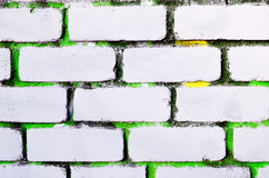 Abstract background the brick wall painted white color Royalty Free Stock Image