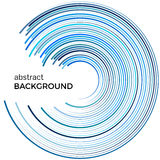 Abstract background with bright blue lines. Blue circles with place for your text. On a white background Stock Image
