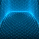 Abstract background. Bright blue lines on the dark blue background. Geometric pattern in blue colors. Stock Images