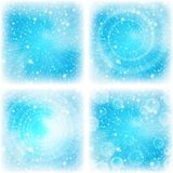 Abstract background, bright blue, set. Background design, abstract bright blue magic backdrop, set. Vector eps10, contains transparencies Royalty Free Illustration