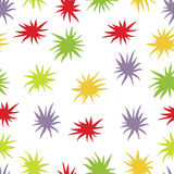 Abstract background with bright colored stars Stock Photography