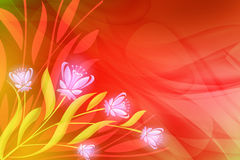 Abstract background. Abstract, bright background with colorful flower Royalty Free Stock Photography