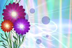 Abstract background. Abstract, bright background with colorful flower Stock Photo
