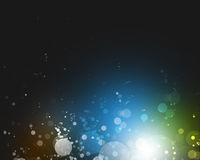 Abstract background of bright colorful lights Stock Images