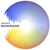 Abstract background with bright colorful lines. Blue and yellow circles with place for your text. On a white background royalty free illustration