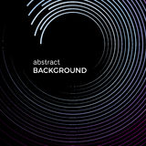 Abstract background with bright colorful lines. Colored circles with place for your text. On a black background Royalty Free Stock Images