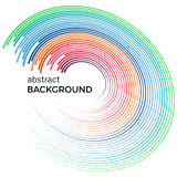 Abstract background with bright colorful lines. Colored circles with place for your text  on a white background Stock Photo