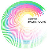 Abstract background with bright colorful lines. Colored circles with place for your text  on a white background Royalty Free Stock Image
