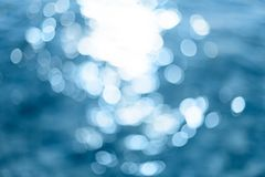 Abstract Background. Bright colorful sun and sea bokeh background Royalty Free Stock Image