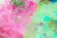 Abstract background in bright colors with raindrops, blurred style. Vivid tints for modern pattern, wallpaper or banner Stock Photo