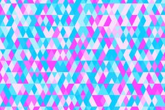 Abstract background in bright colors. Vector illustration. Abstract background with bright triangles . backdrop in pink, blue colors. Vector illustration. A good Stock Photos