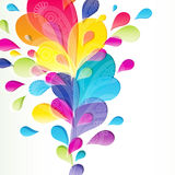 Abstract background with bright drop. Illustration for your design Royalty Free Illustration