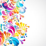 Abstract background with bright drop. Illustration for your design Stock Images