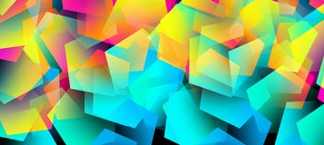 Abstract background with bright elements stock illustration