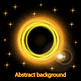 Abstract background with bright fire glowing geometric shapes Stock Photos