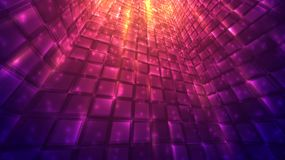Abstract background of bright glowing particles and paths. Illustration Stock Images