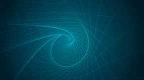 Abstract background of bright glowing particles and paths. Illustration stock illustration