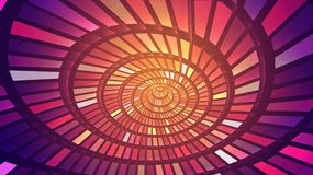 Abstract background of bright glowing particles and paths. Vector illustration royalty free illustration