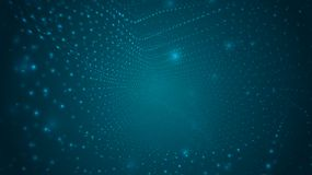 Abstract background of bright glowing particles and paths. Vector illustration vector illustration
