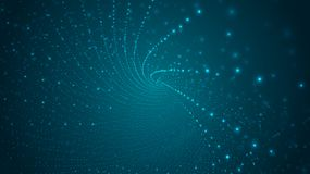 Abstract background of bright glowing particles and paths. Illustration vector illustration
