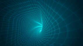 Abstract background of bright glowing particles and paths. Royalty Free Stock Photo