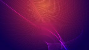 Abstract background of bright glowing particles and paths. Illustration Stock Photography