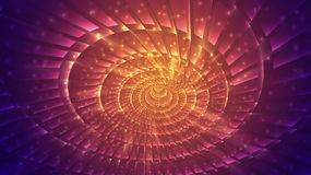 Abstract background of bright glowing particles and paths. Illustration Royalty Free Stock Photos
