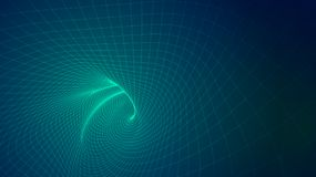 Abstract background of bright glowing particles and paths. Illustration Royalty Free Stock Photo