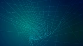 Abstract background of bright glowing particles and paths. Illustration royalty free illustration