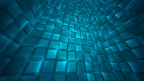 Abstract background of bright glowing particles and paths. Stock Photo