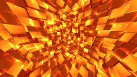Abstract background of bright glowing particles and paths. Royalty Free Stock Image