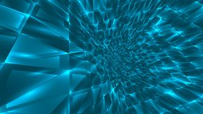 Abstract background of bright glowing particles and paths. Vector illustration stock illustration