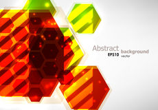 Abstract background. Bright abstract hexagon background. EPS10 vector image Stock Photos