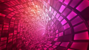 Abstract  background, bright infinite tunnel. Of glowing segments Royalty Free Illustration