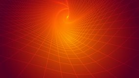 Abstract background, bright infinite tunnel. Of glowing segments vector illustration