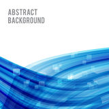 Abstract background bright and light curve blue 008 Royalty Free Stock Photography