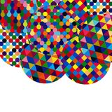 Abstract background with bright mosaic circles. Royalty Free Stock Photos