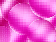 Abstract background. Bright pink balls abstraction closeup Stock Photos
