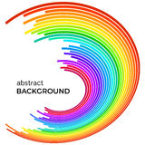 Abstract background with bright rainbow colorful lines Stock Images