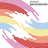 Abstract background with bright rainbow colorful lines. Royalty Free Stock Images