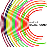 Abstract background with bright rainbow colorful lines. Colored circles with place for your text Stock Photo