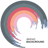 Abstract background with bright rainbow colorful lines. Colored circles with place for your text Stock Image
